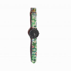 REloj tela amebas verde